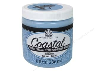 Clearance: Plaid Folkart Coastal Texture Paint 8 oz. High Tide