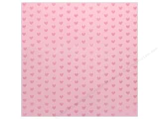 "scrapbooking & paper crafts: Bazzill Paper 12""x 12"" Heart Foil Cotton Candy Pink (12 pieces)"
