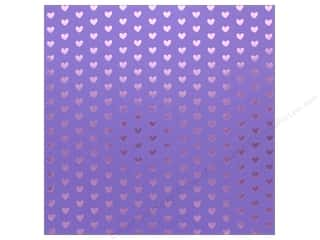 "scrapbooking & paper crafts: Bazzill Paper 12""x 12"" Heart Foil Gummy Bear Purple (12 pieces)"