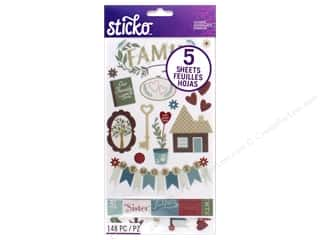 EK Sticko Stickers Flip Pack Family Icons Words