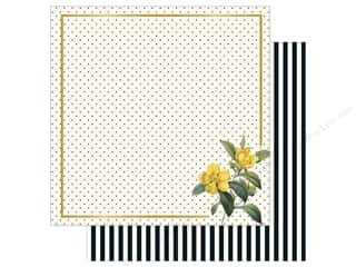 "bloom: My Mind's Eye Collection In Bloom Paper 12""x 12"" Gold Foil Flora (25 pieces)"