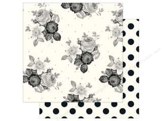 "bloom: My Mind's Eye Collection In Bloom Paper 12""x 12"" Gold Foil Romantic Blossom (25 pieces)"