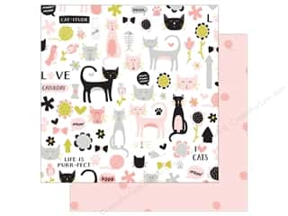 "Clearance: My Mind's Eye Collection Meow Paper 12""x 12"" Cat-itude (25 pieces)"