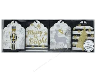 twine: Lady Jayne Gift Tags Die Cut Winter Glitz 16pc