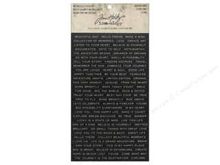 Tim Holtz Metallic Mixative: Tim Holtz Idea-ology Stickers Metallic Quotations