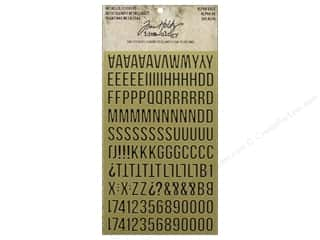 Tim Holtz Idea-ology Sticker Metallic Alpha Gold