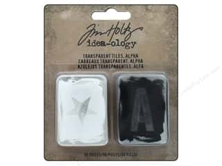 resin: Tim Holtz Idea-ology Transparent Tiles Alpha