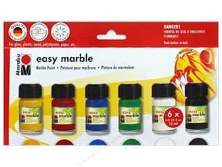 Acrylic Paint Blue: Marabu Easy Marble Paint Starter Set