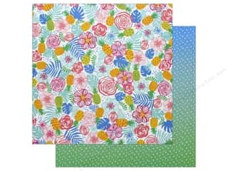 """ombre: AMC Collection On A Whim Amy Tangerine Paper 12""""x 12"""" Tropical Paradise (25 pieces)"""