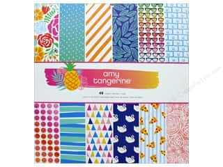 """scrapbooking & paper crafts: AMC Collection On A Whim Amy Tangerine Paper Pad 12""""x 12"""""""