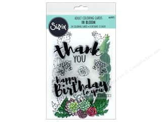 dies: Sizzix Stamp Jen Long Coloring Card and Stamp In Bloom