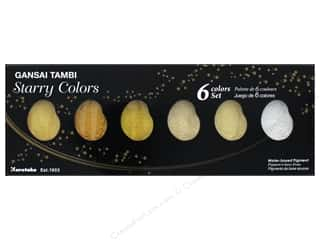 watercolor paper: Kuretake Gansai Tambi Watercolors 6 Color Set Starry