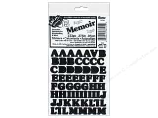 Darice Sticker Alphabet Black 232pc