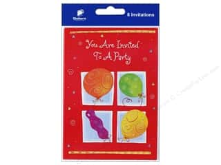 gifts & giftwrap: Gallant Greetings General Party Invitation 2 8 ct