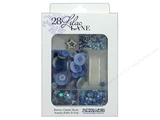 resin: Buttons Galore 28 Lilac Lane Embellishment Kit Stardust