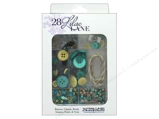 craft & hobbies: Buttons Galore 28 Lilac Lane Embellishment Kit Let's Go