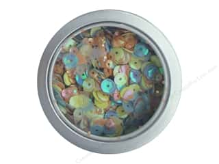 Buttons Galore 28 Lilac Lane Sequin Tin Spring Butterflies