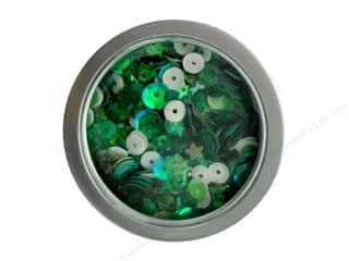 craft & hobbies: Buttons Galore 28 Lilac Lane Sequin Tin Lady Luck