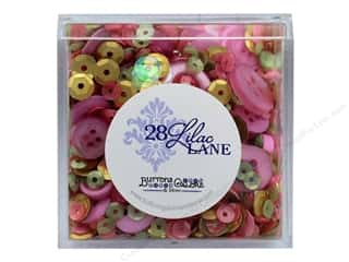craft & hobbies: Buttons Galore 28 Lilac Lane Shaker Mix Rose Garden