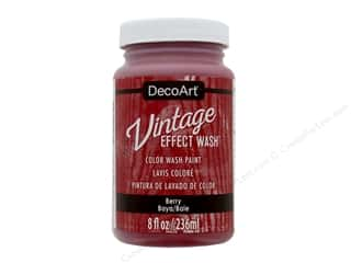 craft & hobbies: Decoart Vintage Effect Wash 8 oz. Berry