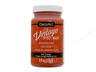 craft & hobbies: Decoart Vintage Effect Wash 8 oz. Red Orange