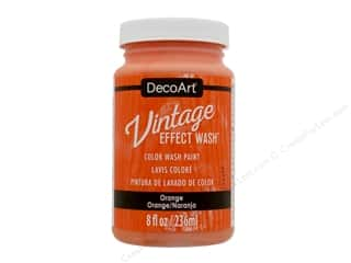 craft & hobbies: Decoart Vintage Effect Wash 8 oz. Orange