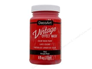 craft & hobbies: Decoart Vintage Effect Wash 8 oz. Red