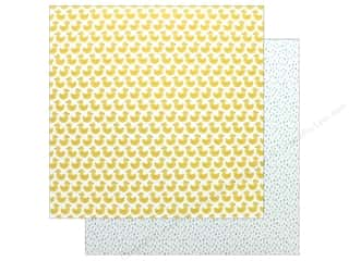 "scrapbooking & paper crafts: Pebbles Collection Lullaby Paper 12""x 12"" Just Duckie (25 pieces)"