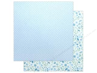 """scrapbooking & paper crafts: Pebbles Collection Lullaby Paper 12""""x 12"""" Baby Boy Blossoms (25 pieces)"""