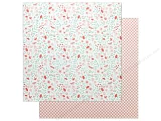 """Pebbles Collection Lullaby Paper 12""""x 12"""" Baby Girl Blossoms (25 pieces)"""
