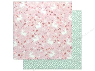 "scrapbooking & paper crafts: Pebbles Collection Lullaby Paper 12""x 12"" Baby Girl Posies (25 pieces)"