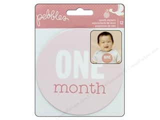 Pebbles Collection Lullaby Sticker Monthly Girl