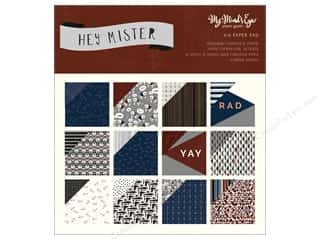 """My Mind's Eye Collection Hey Mister Paper Pad 6""""x 6"""""""