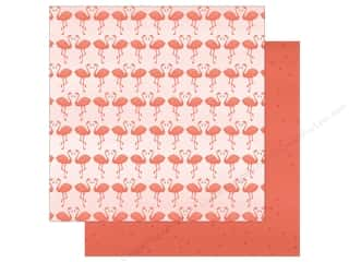 "My Mind's Eye Collection Palm Beach Paper 12""x 12"" Flamingos (25 pieces)"