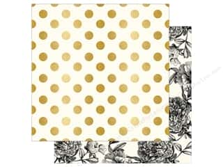 "bloom: My Mind's Eye Collection In Bloom Paper 12""x 12"" Gold Foil Modern Botanical (25 pieces)"