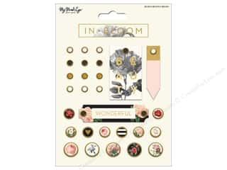 bloom: My Mind's Eye Collection In Bloom Decorative Brads