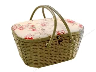 Gifts & Giftwrap: St Jane Sewing Baskets Picnic Shape Beige
