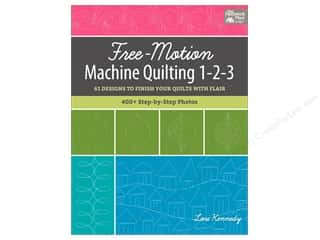 Free-Motion Machine Quilting 1-2-3: 61 Designs to Finish Your Quilts with Flair Book by Lori Kennedy