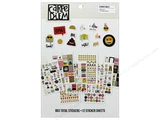 scrapbooking & paper crafts: Simple Stories Collection Emoji Love Carpe Diem Sticker Tablet