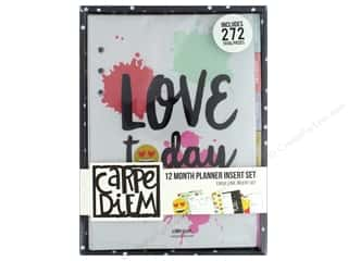 Clearance: Simple Stories Carpe Diem A5 12 Month Planner Insert Set - Emoji Love