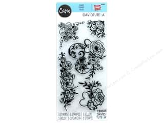 stamps: Sizzix Stamp David Tutera Floral Embellishments