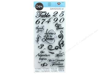 stamp: Sizzix Stamp David Tutera Sentiments & Table Number