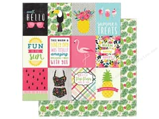 "Summer Fun: Echo Park Collection Summer Fun Paper 12""x 12"" Journaling Cards 3""x 4"" (25 pieces)"