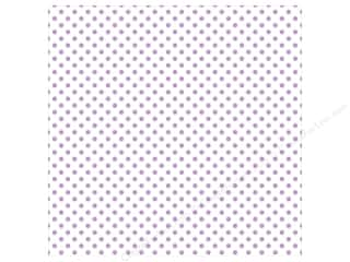 "Echo Park Collection Dots & Stripes Pastel Vellum 12""x 12"" Purple Tulips"