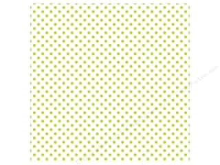 "Echo Park Collection Dots & Stripes Pastel Vellum 12""x 12"" Green Grass"