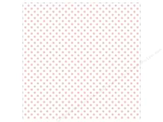 "Echo Park Collection Dots & Stripes Pastel Vellum 12""x 12"" Blush Bunny"