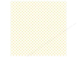 "Echo Park Collection Dots & Stripes Pastel Vellum 12""x 12"" Yellow Sunshine"