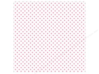 "Echo Park Collection Dots & Stripes Pastel Vellum 12""x 12"" Pink Blossoms"