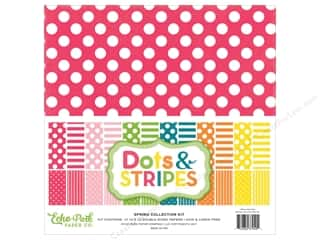 "Echo Park Collection Dots & Stripes Spring Collection Kit 12""x 12"""