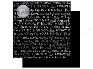 "scrapbooking & paper crafts: Carta Bella Collection Love Paper 12""x 12"" Foil Black (25 pieces)"